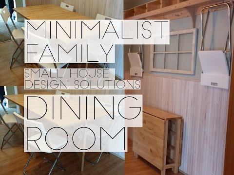 MINIMALIST FAMILY SMALL SPACE DINING ROOM SOLUTIONS.