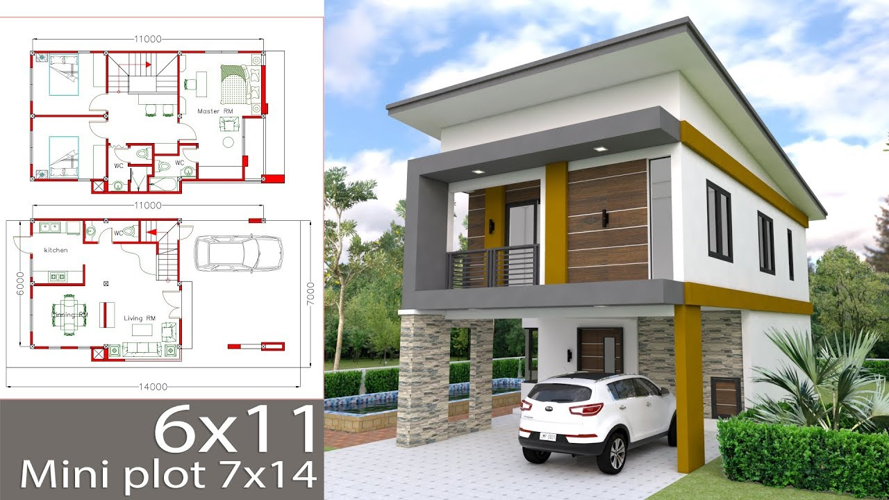 small home designs floor plans small home design plan 6x11m with 3 bedrooms youtube 9103