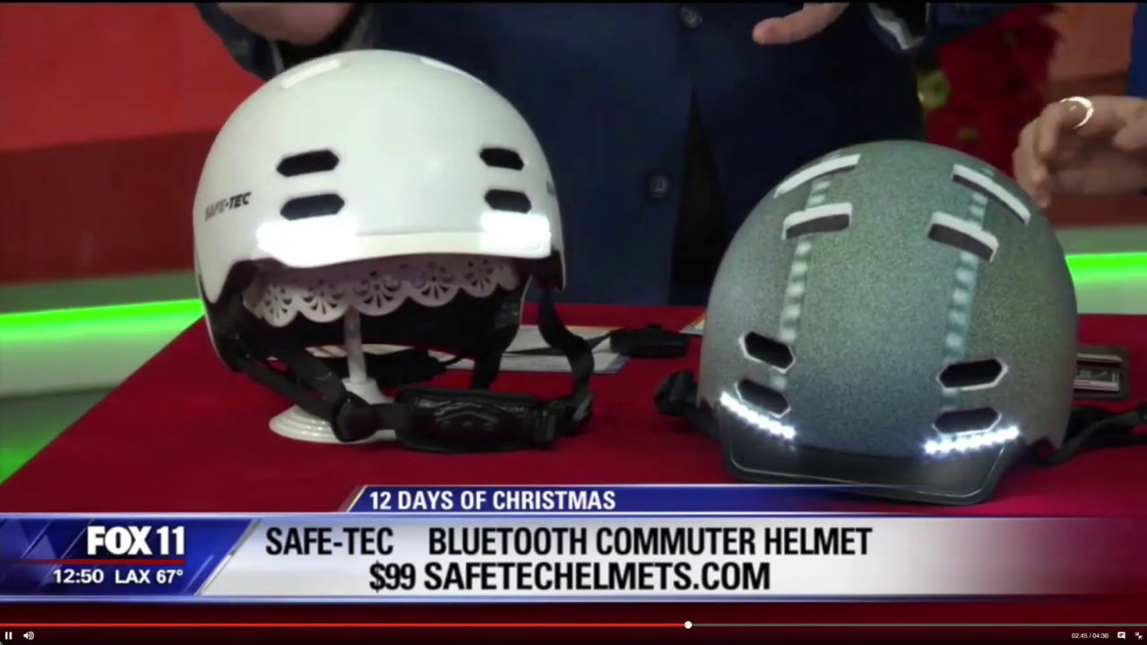 Safe-Tec SK8 Bicycle Smart Helmet with Turn Signals and Bone Conduction Speakers