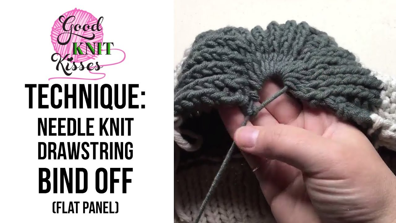 drawstring bind off on flat panel hat cc youtube