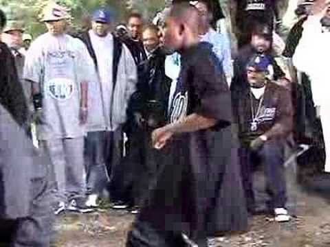 "KURUPT & ROSCOE CRIP C WALK @ DPG ""Cali Iz Active"" video shoot"