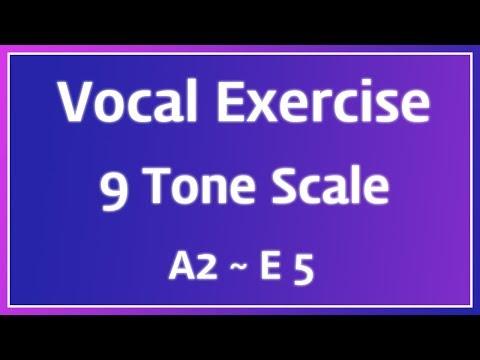 남성 발성 연습 : A2 ~ E5 9도 피아노 스케일 【보이스큐어 보컬트레이닝 발성 스케일】