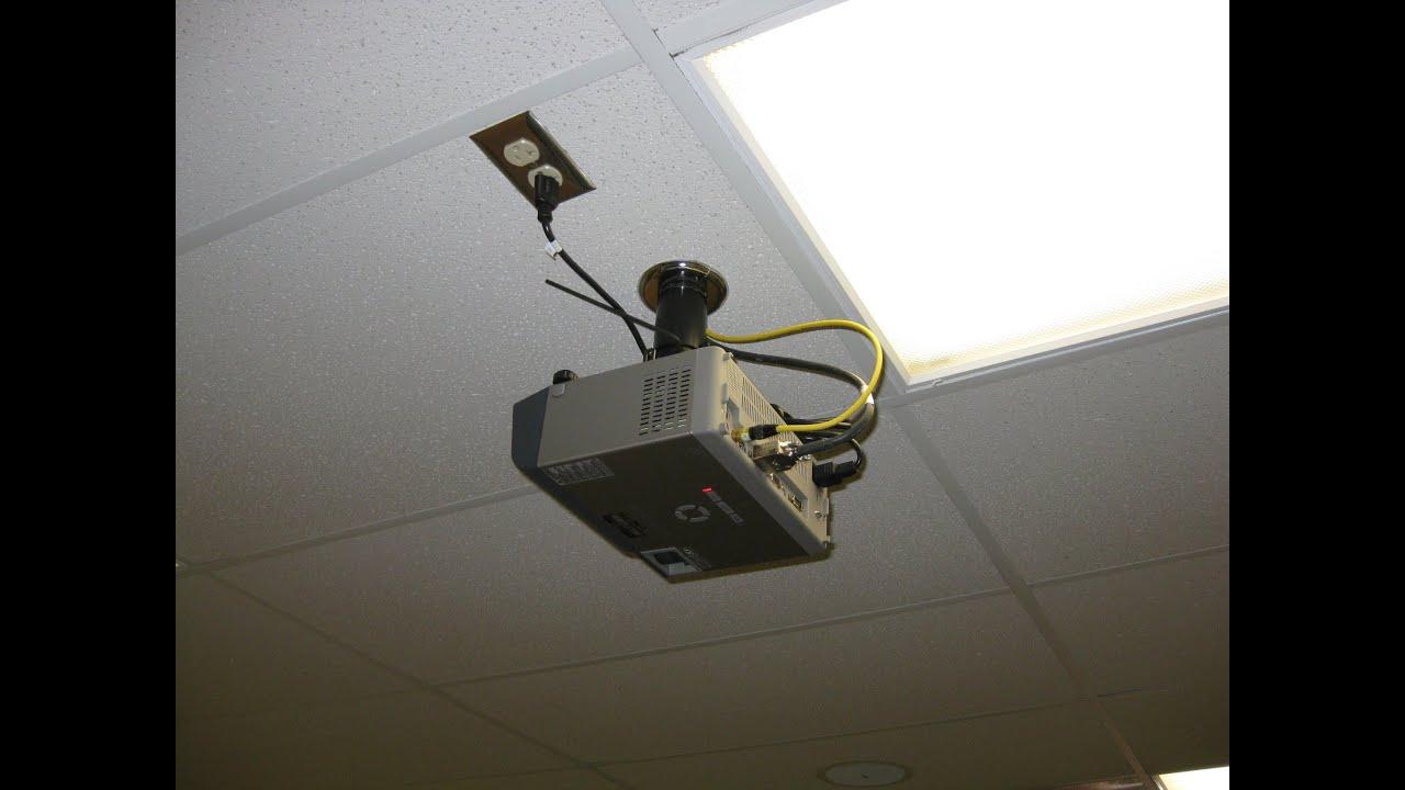 Diy Projector Drop Ceiling Mount | www.Gradschoolfairs.com