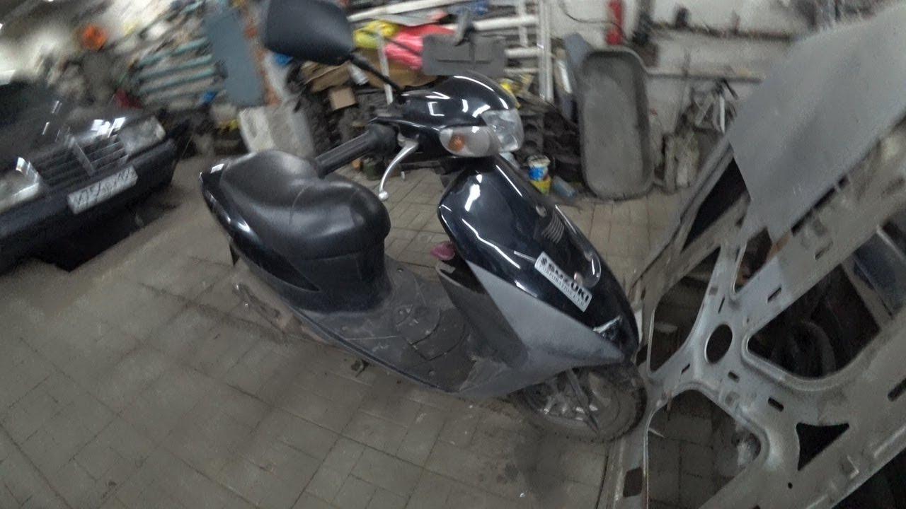 Ремонт японского скутера Suzuki Lets 2,разбор двигателя и дефектовка.