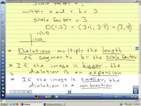 Geometry 8.1 Dilation and Scale factor