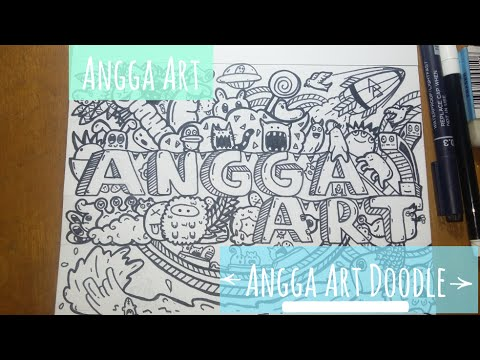 Angga Art Doodle Full Page Doodle Youtube