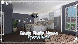 Bloxburg - Single Family House Speed-build