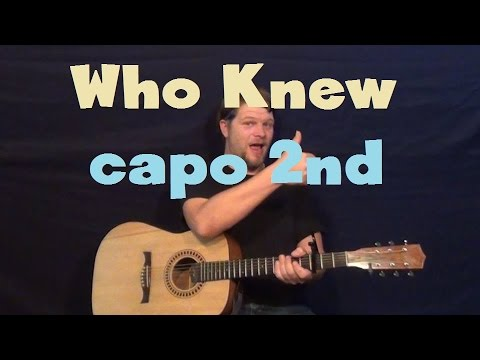 Who Knew (Pink) Guitar Lesson Easy Strum Capo 2nd Fret How to Play Tutorial