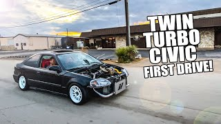 FIRST DRIVE in the TWIN-TURBO CIVIC!!