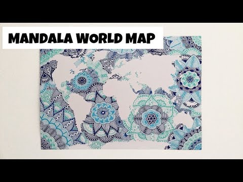 MANDALA WORLD MAP SPEED DRAWING Cassidy Designs YouTube - Mandala map of the world