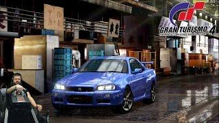Напряженный Tuning Car Grand Prix на Nissan GT-R - Gran Turismo 4 + Fanatec CSL Elite