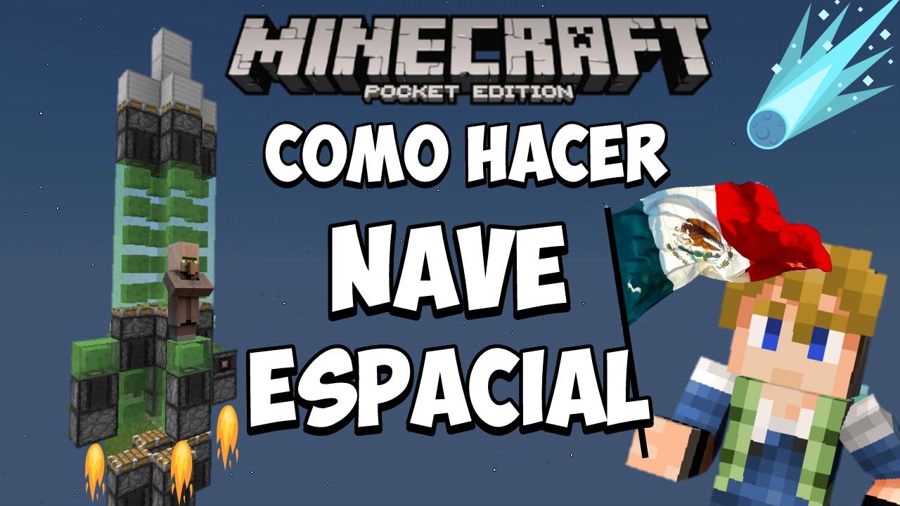 Como Hacer Una Nave Espacial Minecraft Pocket Edition 10x Sin Mods Lol Xd