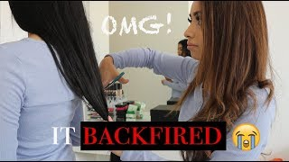 CUT MY SISTERS *REAL* HAIR PRANK GONE TERRIBLY WRONG!! (not clickbait)