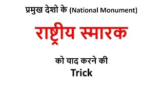 Gk Tricks in Hindi   राष्ट्रीय स्मारक