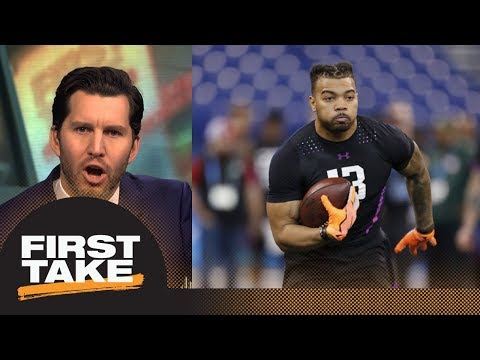 Will Cain on RB Derrius Guice being asked if he 'likes men' at NFL combine | First Take | ESPN