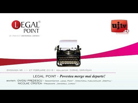 """Legal Point 1 - Ovidiu Predescu și Nicolae Cîrstea: """"Povestea merge mai departe"""""""
