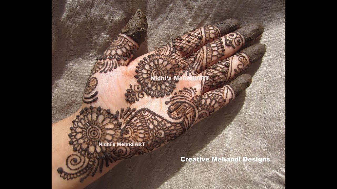 Designs Of Mehndi For Palm : Best traditional wedding palm henna mehndi design tutorial youtube