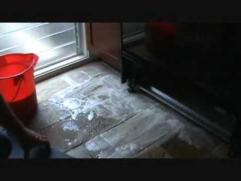 Cleaning A Natural Stone Tile Floor Youtube