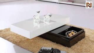 Modern Two-tone Coffee Table With Storage Vgcjm039