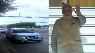 Car rally organised in Houston, US ahead of 'Howdy, Modi!' event