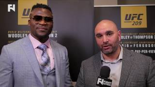 UFC 209: Francis N'Gannou on Heavyweight Title Contention -