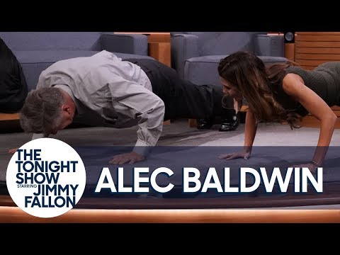 Alec Baldwin Challenges His Wife to a PushUp Contest