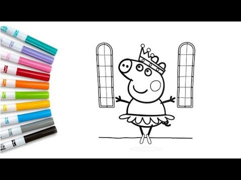 Peppa Pig Princess Coloring Book Pages Kids Fun Coloring Videos