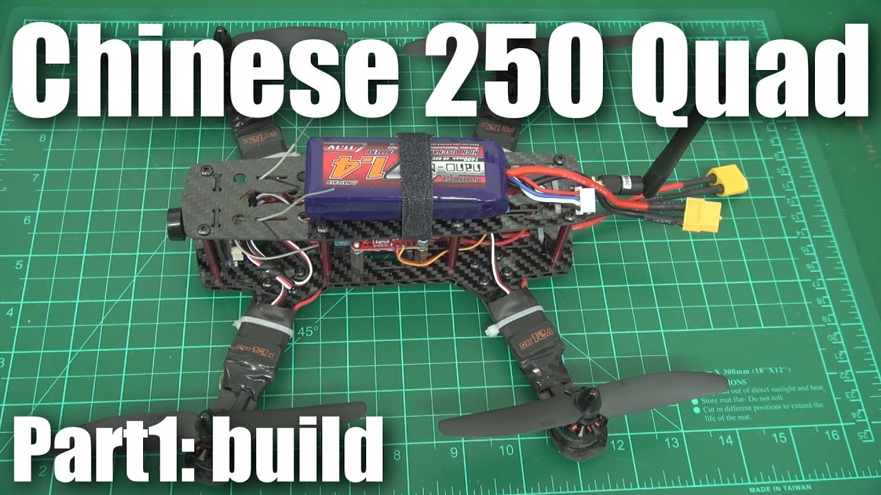 Review: Cheap carbon Chinese 250-size mini quadcopter (part 1) - YouTube