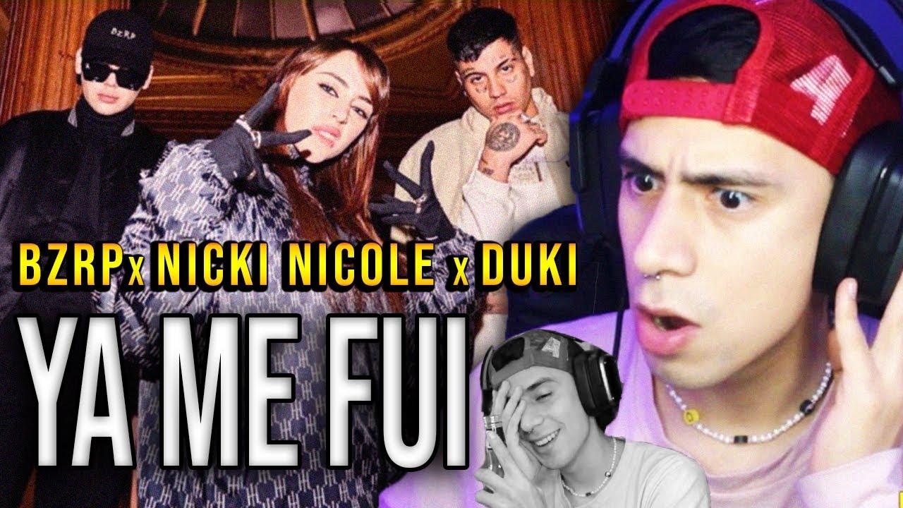 REACCIONANDO a Bizarrap x Duki x Nicki Nicole - YaMeFui + SI TE CEBAS TOMAS!
