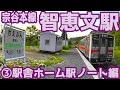 宗谷本線W51智恵文駅③駅舎ホーム駅ノート編
