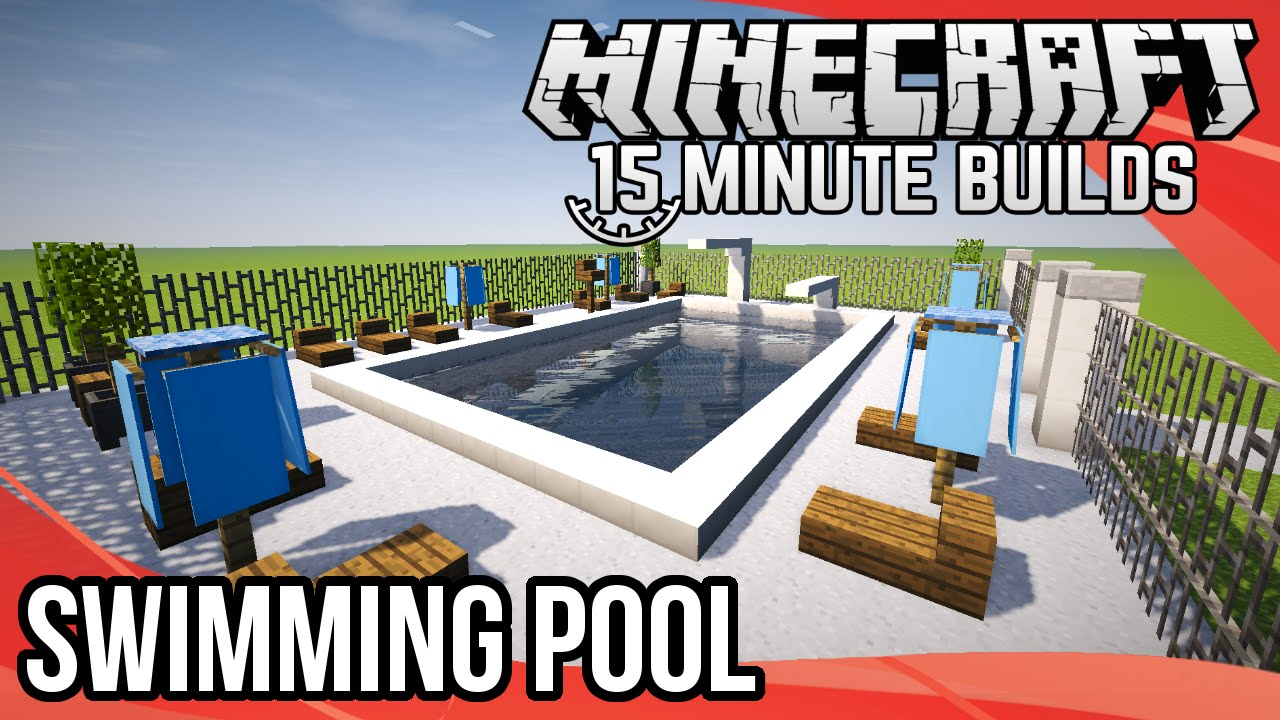 Minecraft 15-Minute Builds: Swimming Pool - YouTube