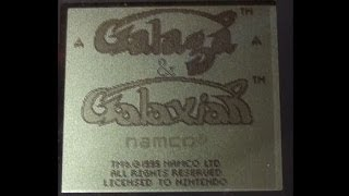 Galaga & Galaxian playing on the Game Boy