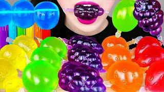 Tiktok Jelly Fruit Candy Challenge, Rainbow Jelly Noodles 틱톡 과일젤리 챌린지, 무지개 젤리국수 먹방 EATING SOUNDS