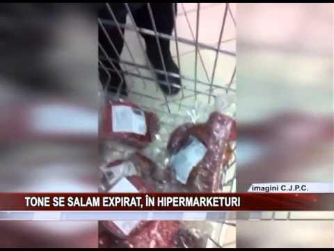 Tone de salam expirat, in hipermarketuri