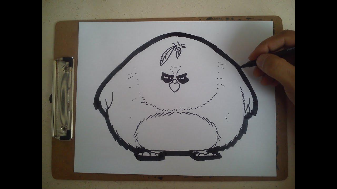 Como Dibujar A Terence De Angry Birds / HOW TO DRAW A