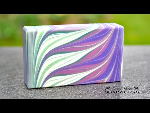 Taiwan Circling Swirl Variation, Cold Process Soap Making, (Technique Video #5)