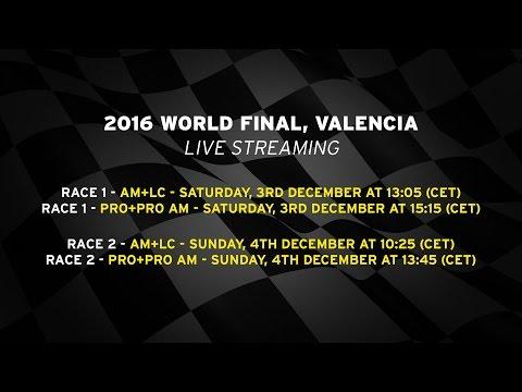 2016 Lamborghini World Final PRO+PRO AM, Valencia - Live streaming Race 1