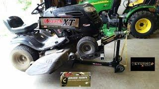 MoJack XT 500 LB Lawn Mower Lift Review & Riding Lawn Mower Maintenance Tips By KVUSMC