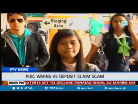 PDIC warns vs deposit claim scam