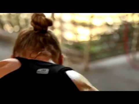 Ronda Rousey outdoor training with Leo Frincu