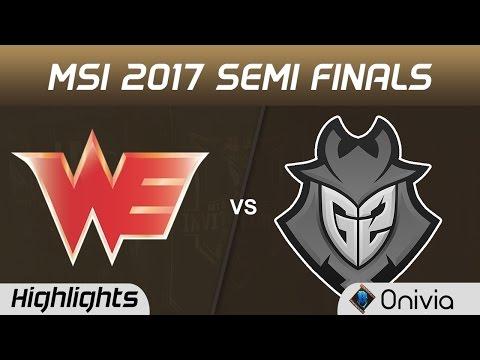 WE vs G2 Highlights Game 4 MSI 2017 Semi Finals Team WE vs G2 Esports by Onivia