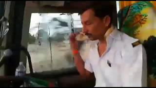 MR SUJIT PATOLE driving VRL VOLVO B9R from PUNE to NAGPUR