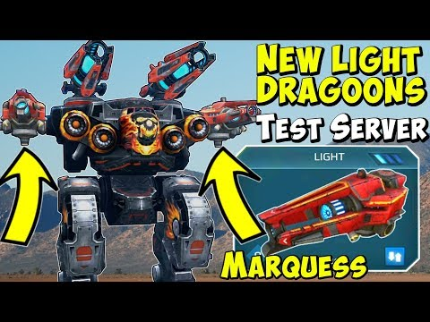 New Light Sniper Weapon Marquess Gameplay - War Robots Test Server WR