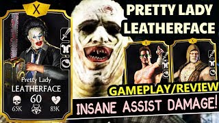 MKX Mobile 1.21. Pretty Lady Leatherface MAXED Gameplay. Best Stun Team in The Game!