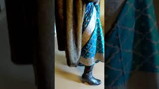 Boots with Saree/Sharee and long fur coat