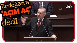 """Erdoğan Konuşurken """"Açım!"""" Diye Bağıran Adam (Akp Grup Toplantısı)"""