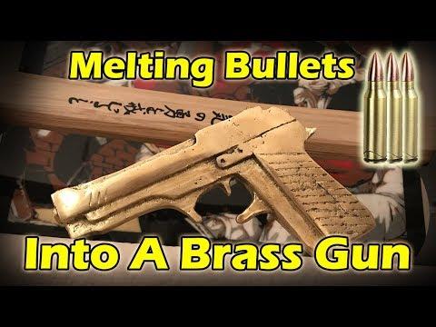 Lost Foam Casting A Brass Gun From BULLET SHELLS