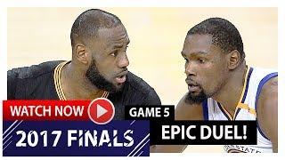 LeBron James vs Kevin Durant Game 5 MVP Duel Highlights (2017 Finals) Cavs vs Warriors - KD WINS IT!