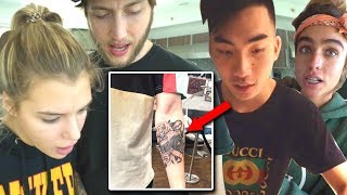 CLOUT HOUSE REACTS TO MY NEW TATTOO (ft. Banks, Alissa, RiceGum, Sommer Ray)