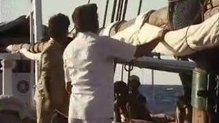 Raising the sail  - Michael Palin travel - Around the World in 80 Days - BBC